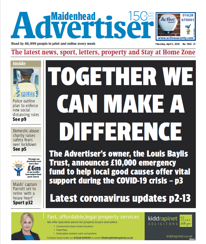 Maidenhead Advertiser Together We Can Make A Difference