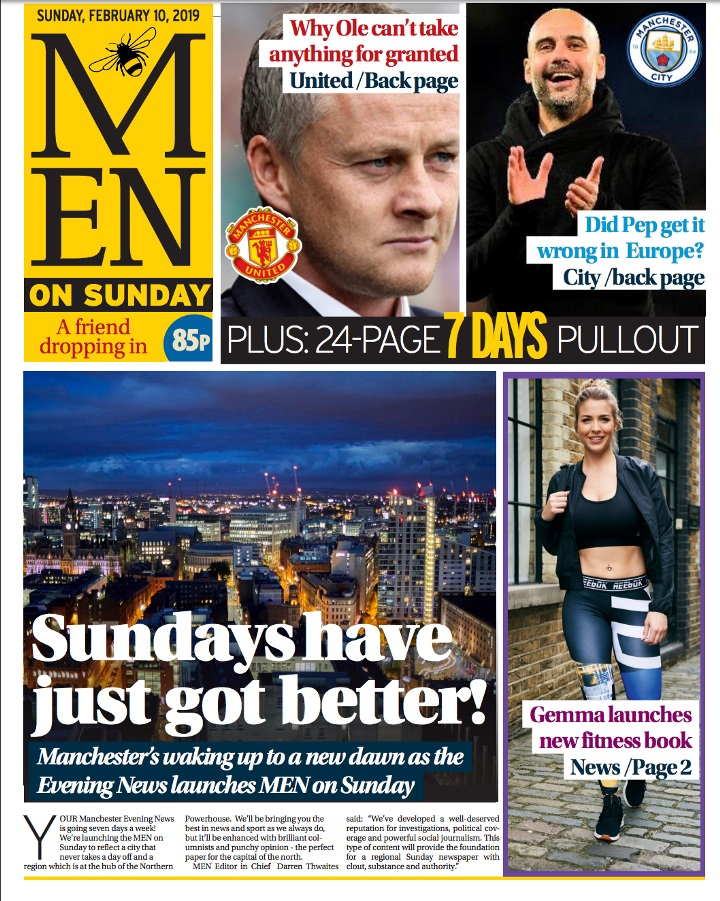 Manchester Evening News To Launch Sunday Edition